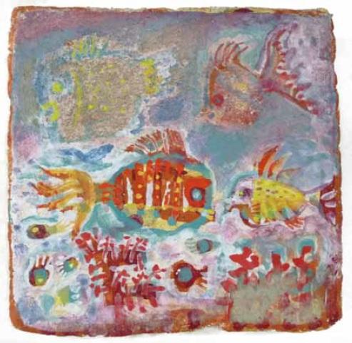 フレスコ画 熱帯魚.jpg